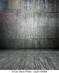 3d Wall With Tiles Texture Empty Interior