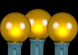 yellow gold satin g50 globe outdoor string light set on