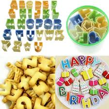 r馮lette cuisine alphabet letter number fondant cake decorating cookie cutter set