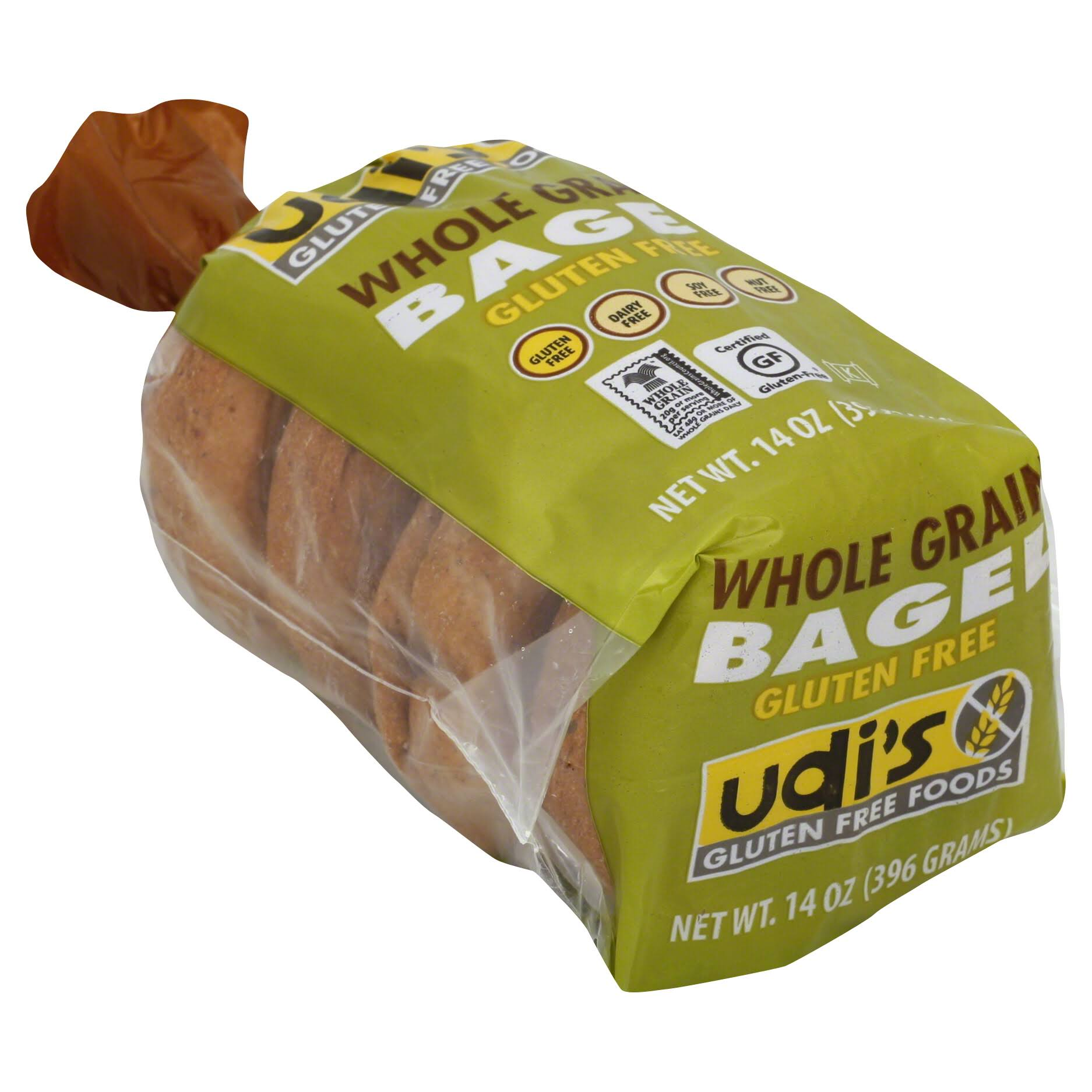 Udi´s Gluten Free Whole Grain Bagels - 4 Pack