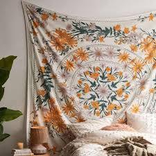 mandala wandteppich hängen werk druck psychedelic tapisserie boho stil dekoration wohnzimmer schlafzimmer tapisserie wohnkultur