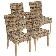 rattanstuhl esszimmer stuhl set 4 stück esszimmer stühle