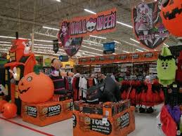 walmart halloween trick or treat aisle display kids costumes and