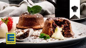 lava cake rezept valentinstag idee mit flüssigem schokoladenkern edeka