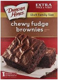 Duncan Hines Brownie Mix Spiff up with Mix boxed brownies with coconut oil instead of