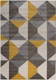 carpetforyou designer moderner kurzflor teppich desert stones bunt grau gelb dreieck in 4 größen für wohnzimmer schlafzimmer jugendzimmer kinderzimmer