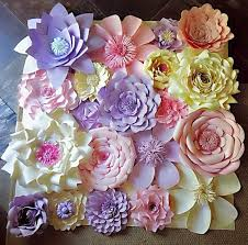 Paper Flowers Wall Decor Wedding Home