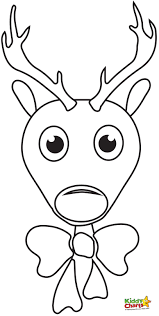 Christmas Reindeer Face Coloring Page In Coloring Page