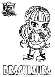 Draculaura From Monster High Coloring Page