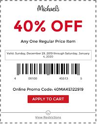 Michaels : 40% Off One Regular Priced Item - Today's Best ... 40 Off Michaels Coupon March 2018 Ebay Bbb Coupons Pin By Shalon Williams On Spa Coupon Codes Coding Hobby Save Up To Spring Items At Lobby Quick Haul With Christmas Crafts And I Finally Found Eyelash Trim How Shop Smart Save Online Lobbys Code Valentines 50 Coupons Codes January 20 Up Off Know When Every Item Goes Sale Lobby Printable In Address Change Target Apply For A New Redcard Debit Or Credit Get One Black Friday Cnn