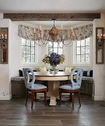 Dining Room Bay Window Curtain Ideas Awesome Furniture On