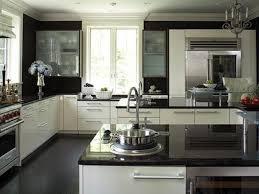 kitchen black and white countertops white kitchen cabinets and