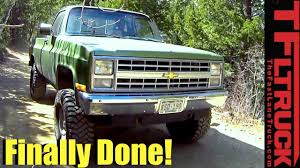 1985 Chevy K10 Big Green Truck Gets A Not So Extreme Makeover (Video ...