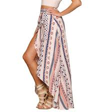amazon com shfz womens ethnic print maxi skirt wrapped beach