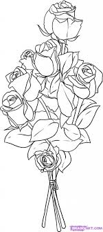 Drawing Flower Bouquet Simple Flower Bouquet Drawing – The Best Flowers Ideas