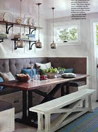 Upholstered Dining Room Bench With Back Lovable Seat Decor Ideas