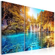 decomonkey bilder wasserfall 120x40 cm 1 teilig