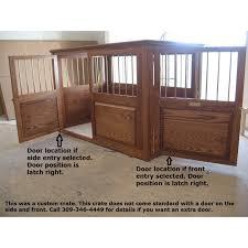 2 Door Custom Wooden Dog Crate Example