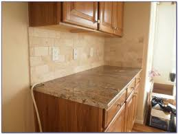 travertine subway tile kitchen backsplash tiles home design
