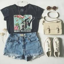 Mtv Shirt Vintage Music Festival Floral Converse Denim Shorts Bag Sunglasses T Quote