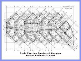 Apartment Complex Blueprints Awesome 3 Of Blueprint Excellent Building