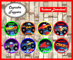 Monster Truck Cupcakes Toppers Printable Monsters Trucks | Etsy Monster Truck Cupcake Toppers Wrappers Etsy Blaze And The Machines Edible Image Cake Topper Amazoncom Monster Toppers Party Krown 24 Jam Rings Cupcake Toppers Cake Birthday Party Favors Truck Mudslinger Boys Birthday Party Cupcake Wrappers And Easy Cakes Ideas Classic Style Decoration Little Birthday Personalised Icing Gravedigger Byrdie Girl Custom