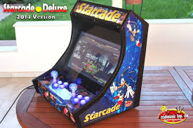 Bartop Arcade Cabinet Kit by Starcade Deluxe Led Edition Bartop Arcade Arcadomania Shop