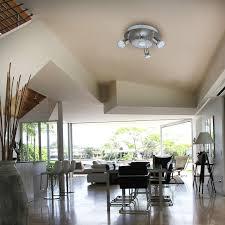 b k licht led deckenstrahler gu10 warmweiß led deckenleuchte rund metall glas le wohnzimmer strahler gu10 inkl 3w 250lm