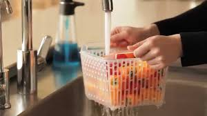 Progressive Over The Sink Colander by Use The Greensaver Basket As A Colander Youtube