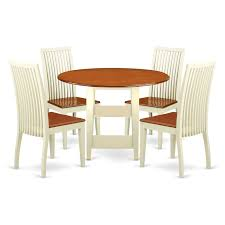 East West Furniture SUIP5-BMK-W 5 Piece Sudbury Set With 1 Round Dinette  Table And Four Dinette Chairs With Wood Seat In A Rich Oak Finish., Wood ... Sunset Trading Co Selections Round Dinette Table Winners Only Quails Run 5 Piece Pedestal And 42 Ding With 4 Side Chairs Shown In Rustic Hickory Brown Maple An Asbury Finish Oak Set Rustica 54 W What I Want For My Kitchena Small Round Pedestal Table Archivist Crown Mark Camelia Espresso Glass Top Family Wood Kitchen Room Breakfast Fniture Modern Unique Sets Design Models New Traditional Cophagen 3piece Cinnamon