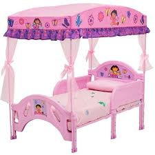 bold inspiration dora toddler bed with canopy delta children