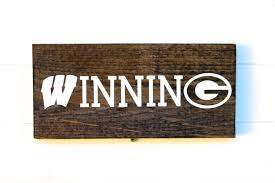 Green Bay Packers Pumpkin Carving Ideas by University Of Wisconsin Rustic Wooden Sign Packers Sign