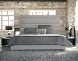 Black Leather Headboard Bed by Black Leather Platform King Bed Frame With Headboard Decofurnish