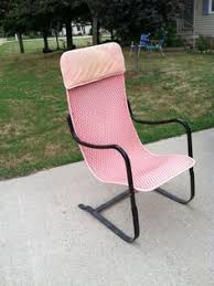 vintage lloyd loom mesh wicker chair mid century patio bounce
