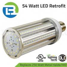 3bl led 250w metal halide or high pressure sodium replacement 54w
