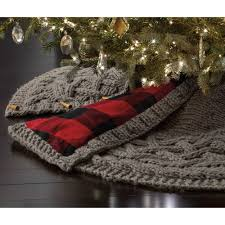 72 Inch Gold Christmas Tree Skirt by Complete Your Tree Décor With This Beautiful Chunky Knit Tree
