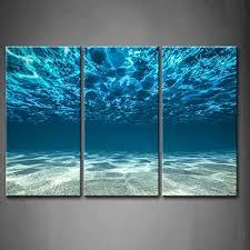 Print Artwork Blue Ocean Sea Wall Art Decor Poster Artworks For