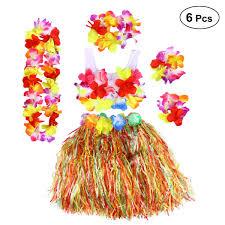 Buy BESTOYARD Ti Leaf Hula Skirt Green Grass Skirt Hawaiian