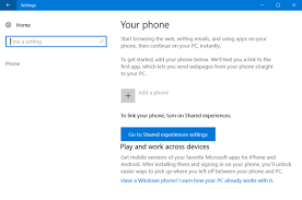 How to link Android phone or iPhone to Windows 10 PC
