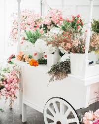 Flower Cart Or Bar Idea For Small Center Aisle Display