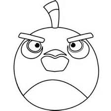 Angry Birds Coloring Pages Blackbird