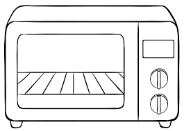 Microwave Oven Clipart Black And White ClipartXtras