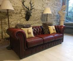 Pottery Barn Chesterfield Grand Sofa by 421 Chesterfield Leather Vintage Distressed 3 Seater Sofa Oxblood