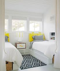 white bedroom ideas with pop of color