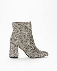 Glitter Pointed Toe Boots