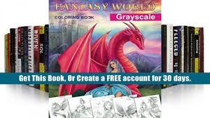 PDF Fantasy World Grayscale Coloring Book Adult Alena Lazareva For Kindle