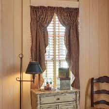 Primitive Curtains For Living Room by Fishtail Swag Curtain Pattern White Swag Valance Prairie Swag