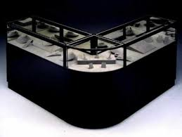 Custom Black Jewelry Case Consists Of A Radius Corner And Two Companion Cases