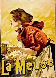 Original French Beer Scene Poster