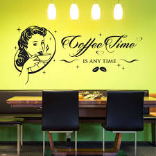 wandtattoo coffee time is any time tolles retro design für